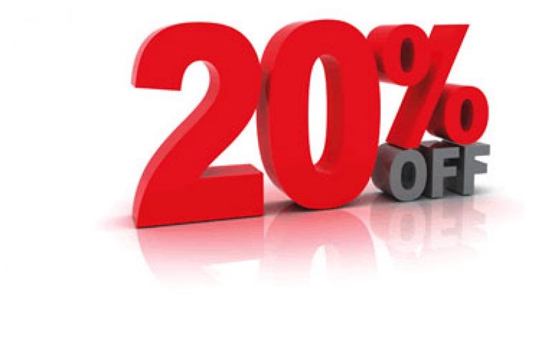 20 % off